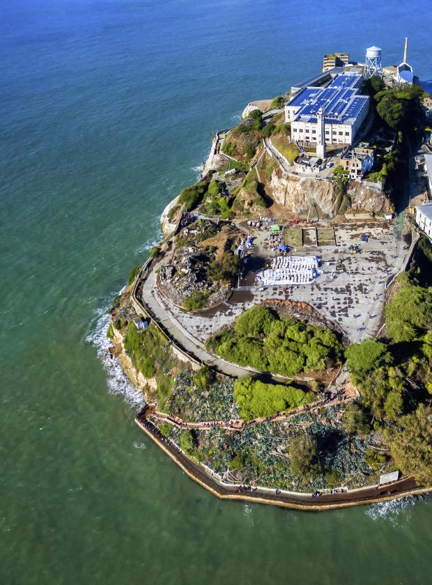 Stunning view of Alcatraz as seen from above